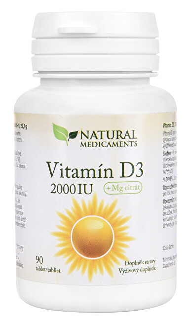 Zobrazit detail výrobku Natural Medicaments Vitamín D3 2000 IU 90 tablet