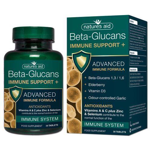 Zobrazit detail výrobku Natures Aid Beta Glukany + (na podporu Imunity) 30 tablet