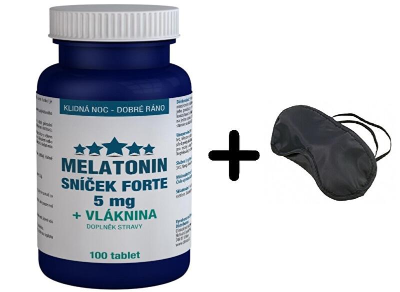 Zobrazit detail výrobku Clinical Nutricosmetics Melatonin Sníček FORTE 5mg s vlákninou 100 tablet