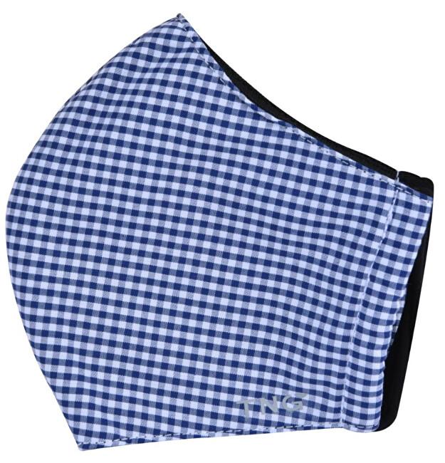Zobrazit detail výrobku Pharma Activ Rouška textilní 3 - vrstvá modrá vzor 1 ks vel. S