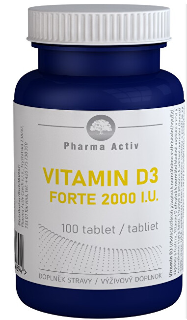 Zobrazit detail výrobku Pharma Activ Vitamin D3 FORTE 2000 I.U. 100 tablet