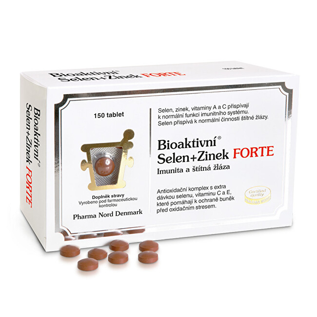 Pharma Nord Bioaktivní Selen+Zinek FORTE 150 tablet