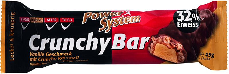 Zobrazit detail výrobku Power System Crunchy Bar 32% Vanilla with Crunchy Caramel 45 g
