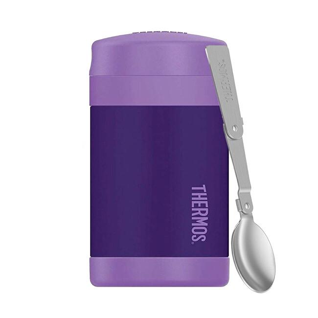 Zobrazit detail výrobku Thermos Dětská termoska na jídlo s skládací lžící - fialová