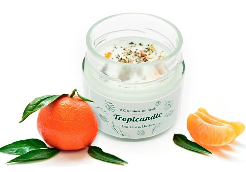 Zobrazit detail výrobku Tropikalia Tropicandle - Lime, basil & mandarin