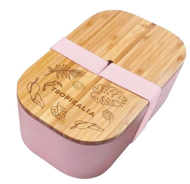 Zobrazit detail výrobku Tropikalia Lunch box ECO L s oddělovačem - Růžový