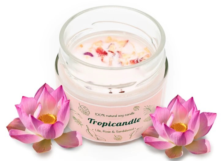 Zobrazit detail výrobku Tropikalia Tropicandle - Lilie, rose & sandalwood