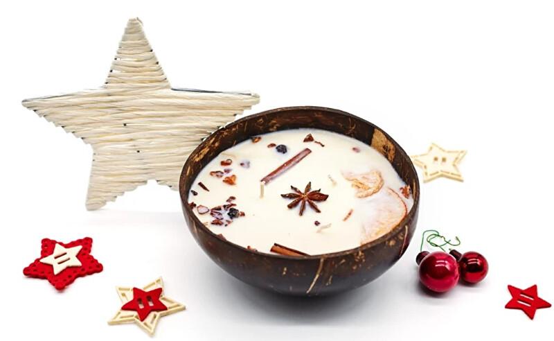 Zobrazit detail výrobku Tropikalia Vánoční svíčka v kokosu