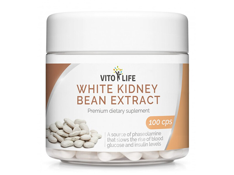 Zobrazit detail výrobku Vito life Bílá fazole extrakt (Phaseolin 2 %) 400 mg, 100 tobolek