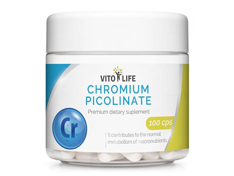 Zobrazit detail výrobku Vito life Chrom pikolinát 200 ?g, 100 tobolek