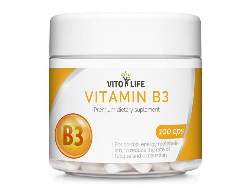 Zobrazit detail výrobku Vito life Niacin (Vitamín B3) 460 mg, 100 tobolek