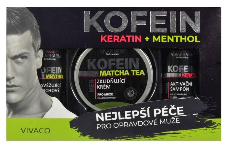 Zobrazit detail výrobku Vivapharm Dárková kazeta keratin a kofein pro muže