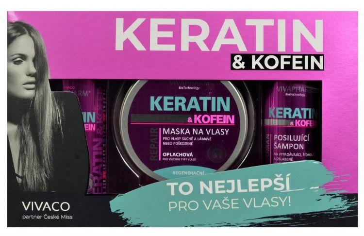 Zobrazit detail výrobku Vivapharm Dárková kazeta keratin a kofein