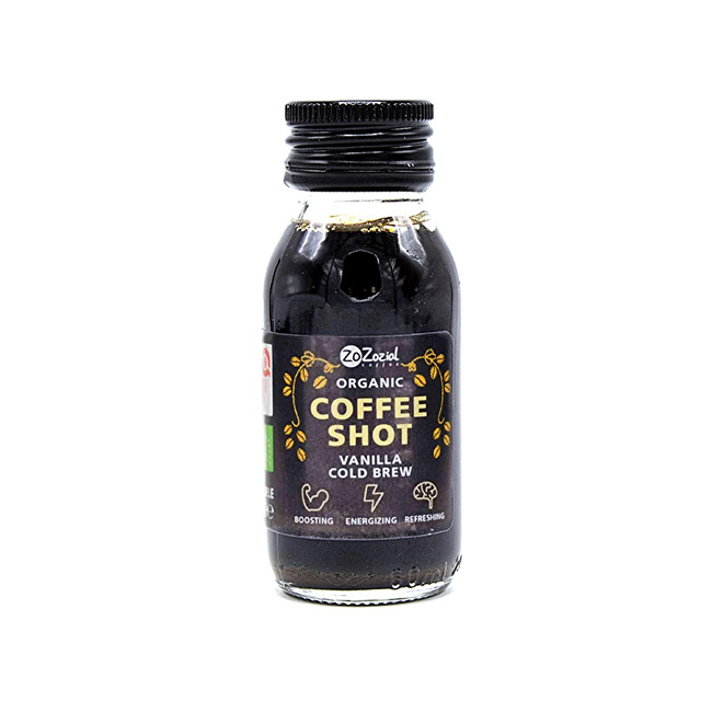 ZoZozial Coffee shot vanilka BIO 60 ml
