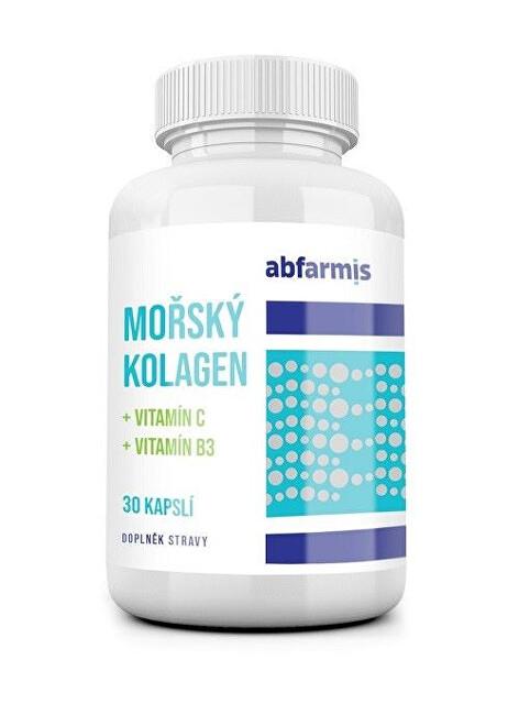 Zobrazit detail výrobku ABFARMIS Mořský kolagen + vitamín C + vitamín B3, 30 kapslí