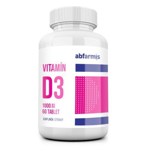 Zobrazit detail výrobku ABFARMIS Vitamín D3 - 1000 IU - 60 tablet