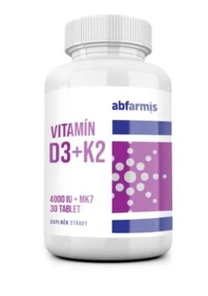 Zobrazit detail výrobku ABFARMIS Vitamín D3+ K2 30 tablet