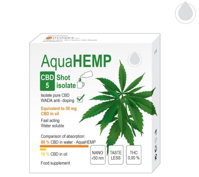 Zobrazit detail výrobku OVONEX AquaHEMP CBD 5 SHOT isolate 4 ml
