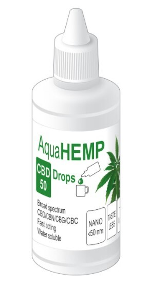 Zobrazit detail výrobku AquaHEMP AquaHEMP DROPS broad spectrum - 50 ml CBD 50