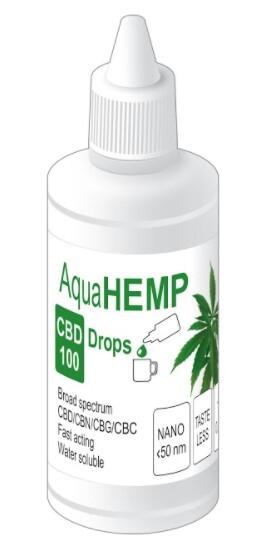 Zobrazit detail výrobku AquaHEMP AquaHEMP DROPS broad spectrum - 50 ml CBD 100