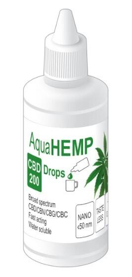 Zobrazit detail výrobku AquaHEMP AquaHEMP DROPS broad spectrum - 50 ml CBD 200