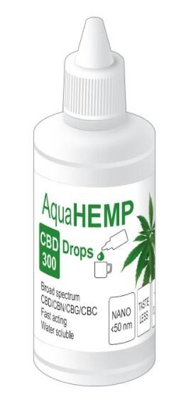 Zobrazit detail výrobku AquaHEMP AquaHEMP DROPS broad spectrum - 50 ml CBD 300