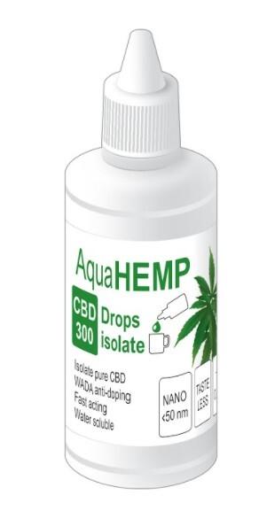 Zobrazit detail výrobku AquaHEMP AquaHEMP DROPS isolate 50 ml 300 CBD