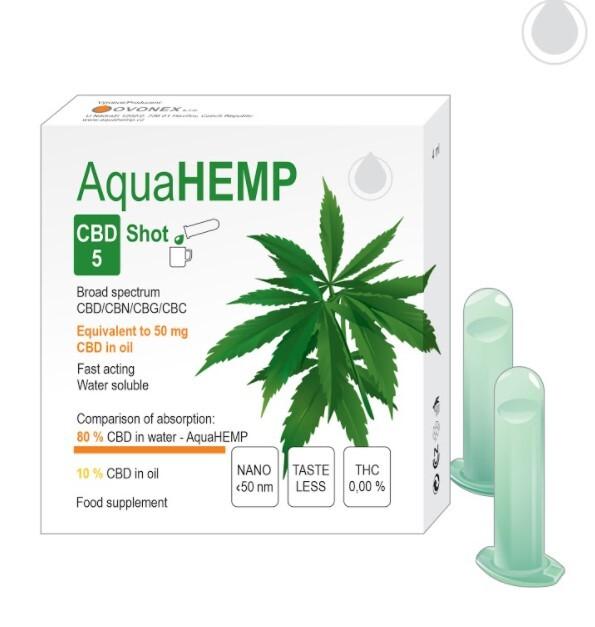 Zobrazit detail výrobku AquaHEMP AquaHEMP SHOT broad spectrum 4 ml CBD 5