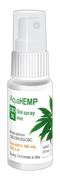 Zobrazit detail výrobku AquaHEMP AquaHEMP spray MINT broad spectrum CBD 50