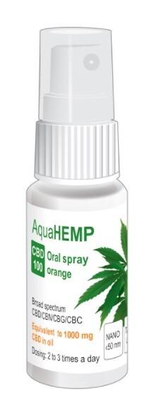 Zobrazit detail výrobku OVONEX AquaHEMP spray ORANGE broad spectrum CBD 100 - 25 ml