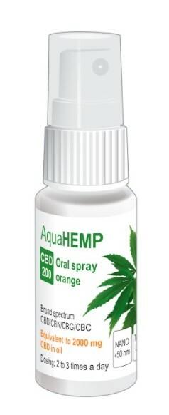 Zobrazit detail výrobku AquaHEMP AquaHEMP spray ORANGE broad spectrum CBD 200 - 25 ml