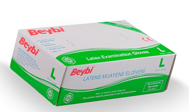 Beybi Rukavice latex L 100 ks