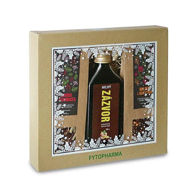 Zobrazit detail výrobku Fytopharma Dárková kazeta - sypané čaje ovocno-bylinné 2 x 100 g + Zázvorový nápoj 200 ml