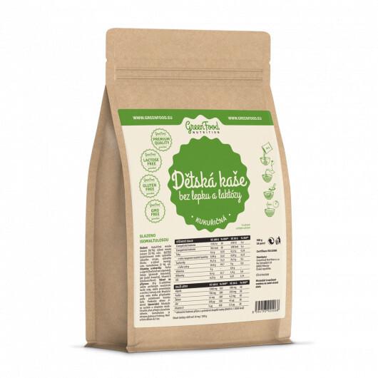 Zobrazit detail výrobku GreenFood Nutrition GF Dětská kaše bez lepku a laktózy kukuřičná 500g