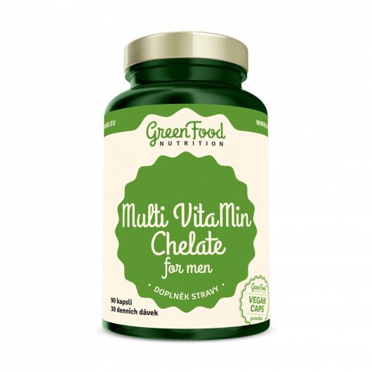 Zobrazit detail výrobku GreenFood Nutrition GF Multi VitaMin Chelát pro muže 90 kapslí