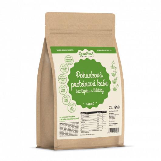 Zobrazit detail výrobku GreenFood Nutrition GF Pohanková proteinová kaše bez lepku a laktózy kakaová 500g