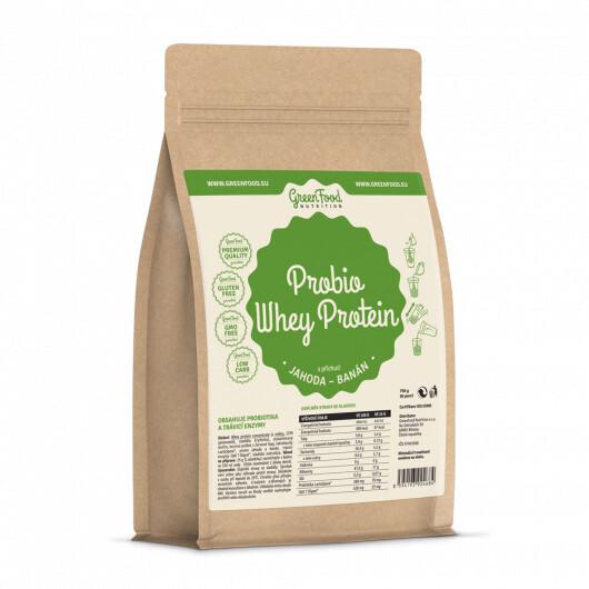 Zobrazit detail výrobku GreenFood Nutrition GF Probio Whey protein příchuť jahoda-banán 750 g