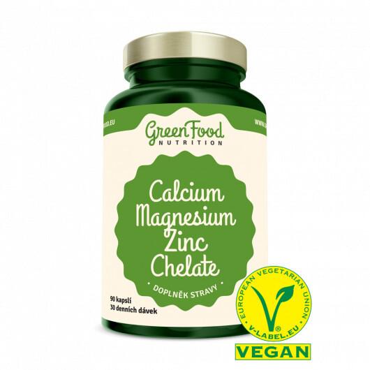 Zobrazit detail výrobku GreenFood Nutrition GF Vápník Hořčík Zinek 90 kapslí