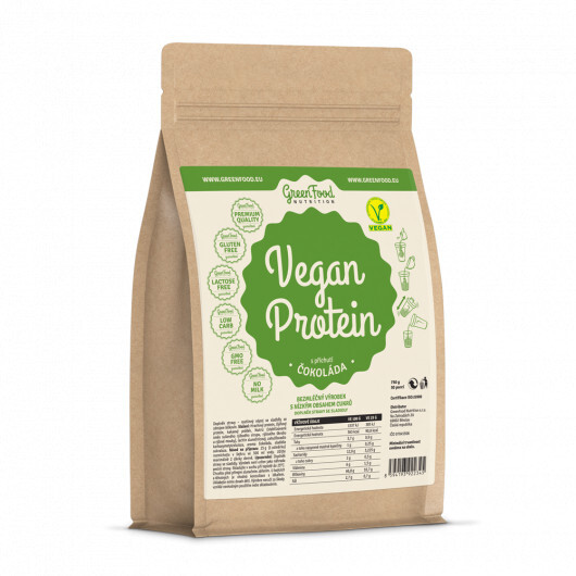 Zobrazit detail výrobku GreenFood Nutrition GF Vegan protein příchuť čokoláda 750 g