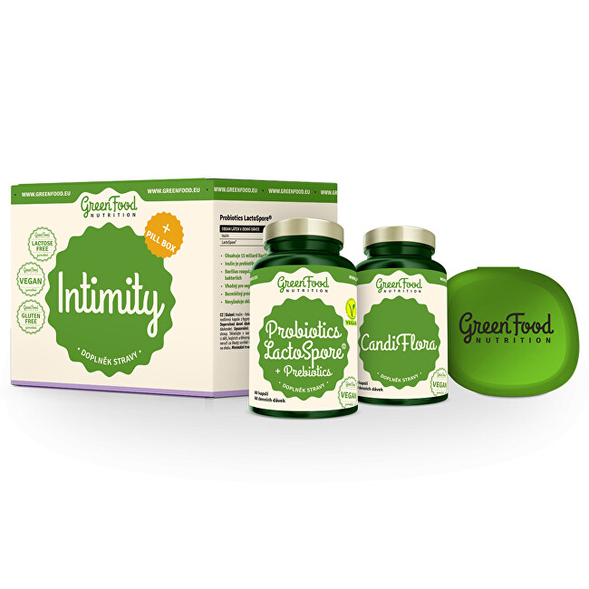 Zobrazit detail výrobku GreenFood Nutrition Intimity + Pillbox 100 g