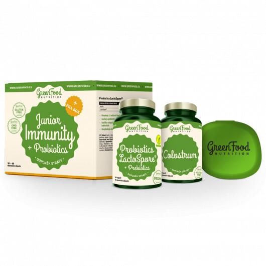 Zobrazit detail výrobku GreenFood Nutrition Junior Immunity & Prebiotics + PillBox 100 g