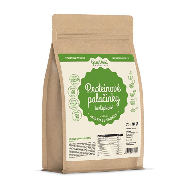 Zobrazit detail výrobku GreenFood Nutrition Proteinové palačinky bezlepkové jablko se skořicí 500 g