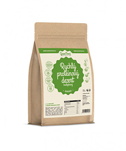 Zobrazit detail výrobku GreenFood Nutrition Rychlý proteinový dezert kakao 400 g