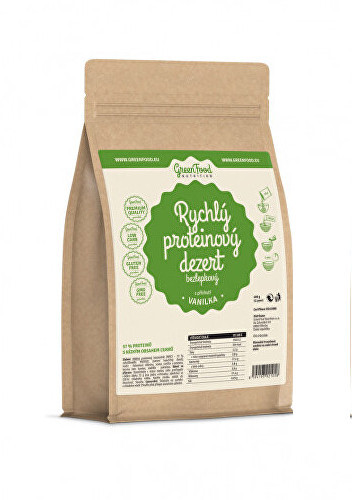 Zobrazit detail výrobku GreenFood Nutrition Rychlý proteinový dezert vanilka 400 g