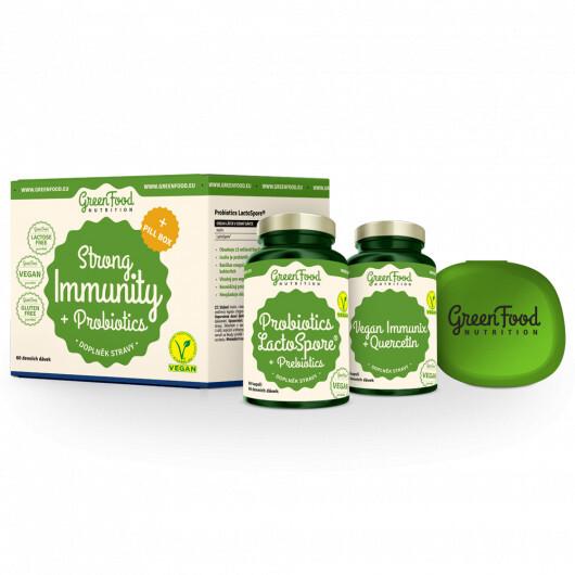 Zobrazit detail výrobku GreenFood Nutrition Strong Immunity & Probiotics + Pillbox 100 g