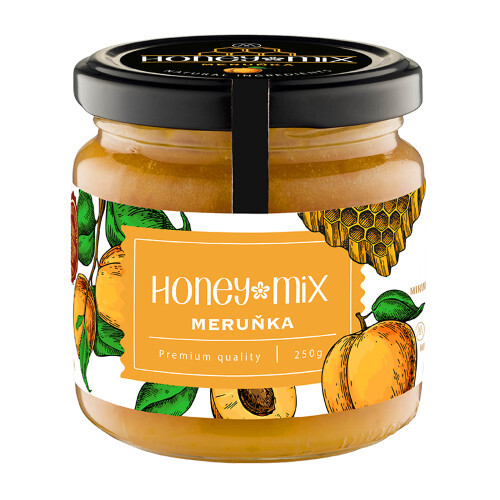 Zobrazit detail výrobku HoneyMix Med s meruňkou 250 g