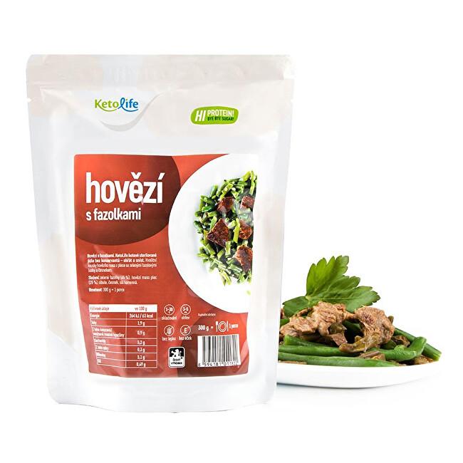 Zobrazit detail výrobku KetoLife Hotové jídlo - Hovězí s fazolkami - 1 porce