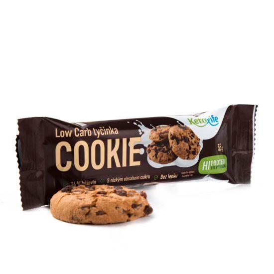 Zobrazit detail výrobku KetoLife Low Carb tyčinka - Cookie 55 g