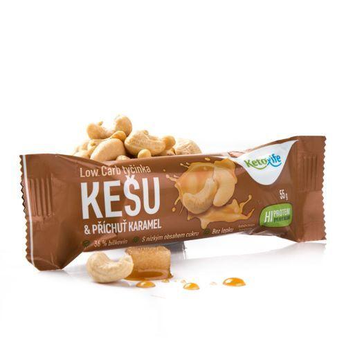 Zobrazit detail výrobku KetoLife Low Carb tyčinka - Kešu s příchutí karamelu 55 g