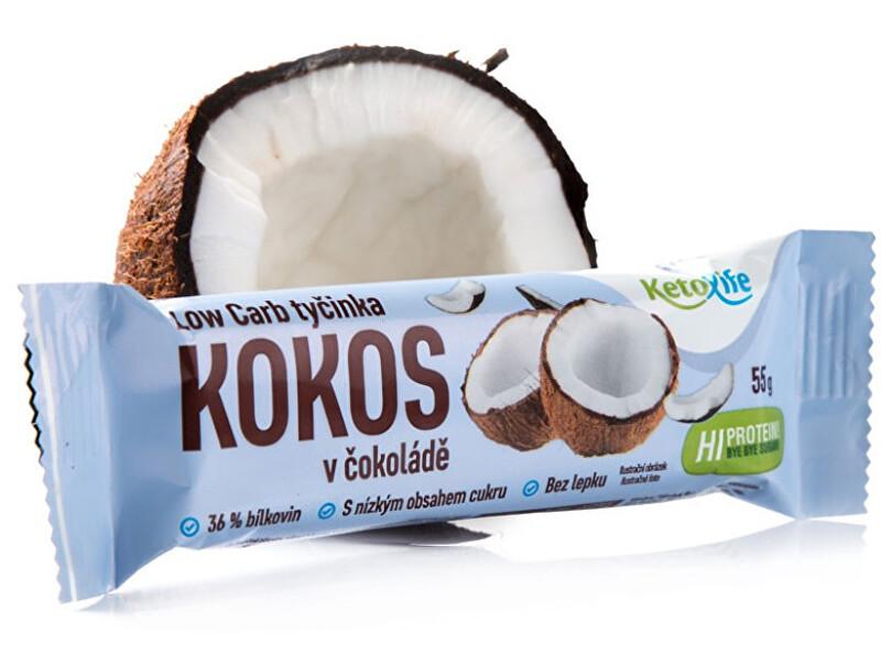 Low Carb tyčinka - Kokos v čokoládě 55 g
